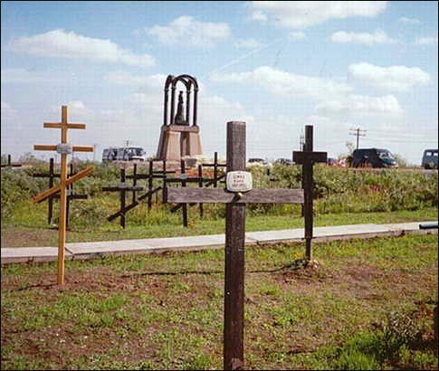 Кладбище Юр-Шор на месте расстрела заключенных. 2003. Воркутинский межрайонный краеведческий музей.